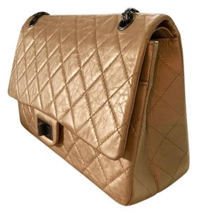 Chanel Leather Calfskin Gold Shoulder Bag