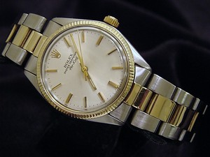 Rolex Mens Rolex Two-Tone 14K/SS Air-King Silver 5501