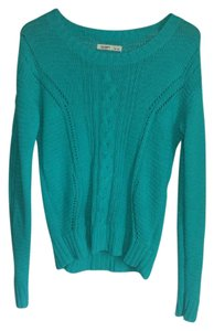 Old Navy Turquoise Open Knit Green Sweater