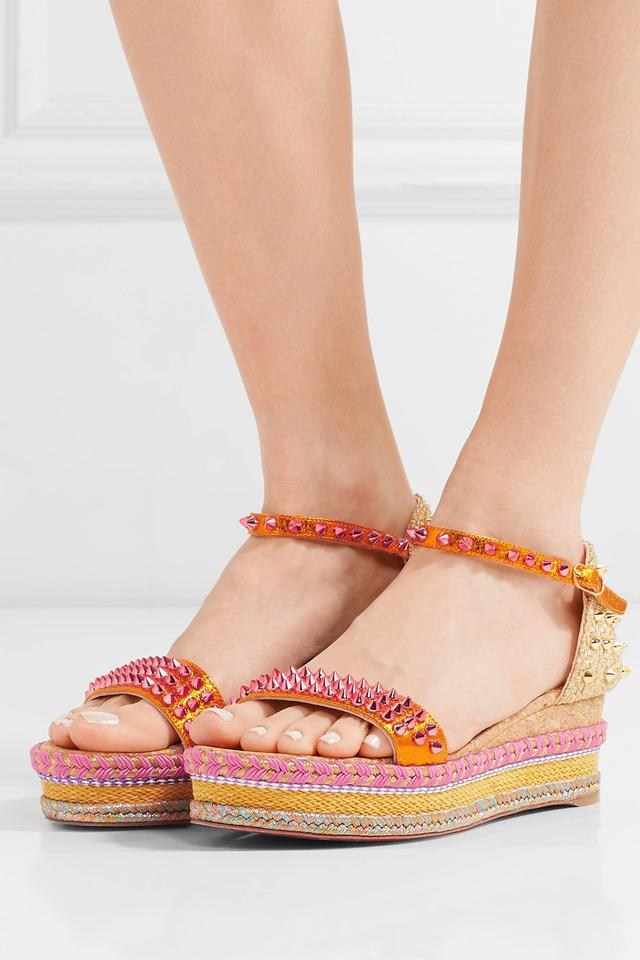 4318e62c7990 Christian Louboutin Madmonica Wedge Espadrille Orange Sandals Image 5.  123456