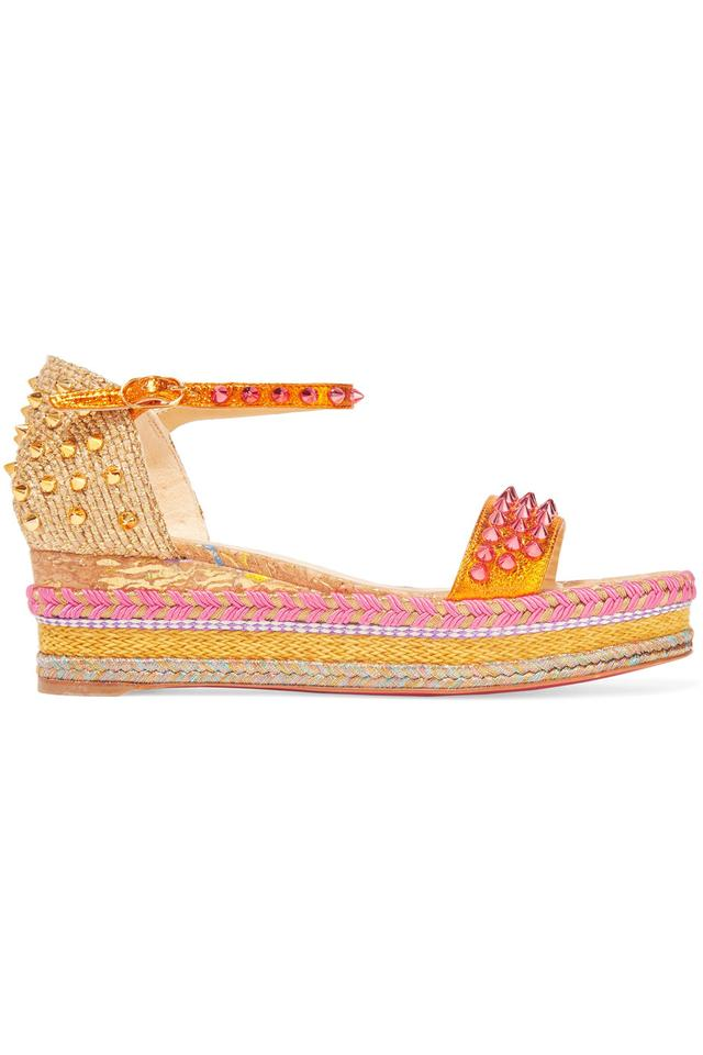 00fc6a55cdf3 Christian Louboutin Madmonica Wedge Espadrille Orange Sandals Image 5.  123456