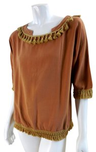 Hot & Delicious Gypsy Gold Ethnic Western 5094 99 Top tan orange