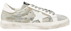 Golden Goose Deluxe Brand Distressed Sneakers Ggdb Mettallic Light gray Athletic