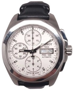 Tissot Tissot PRC 100 Quadrato Chronograph White Dial Men's Watch T0084141603