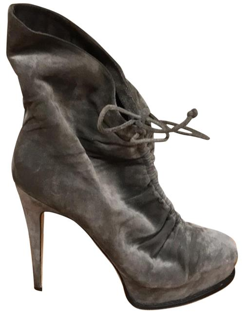 Item - Grey Miri Ruched Suede Ankle Boots/Booties Size US 8.5 Regular (M, B)
