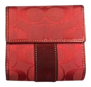 Coach Red Signature Wallet