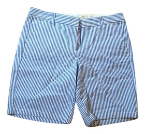 J.Crew Shorts Blue & White Seersucker