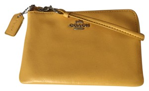 Coach Wristlet in Canary - yellow