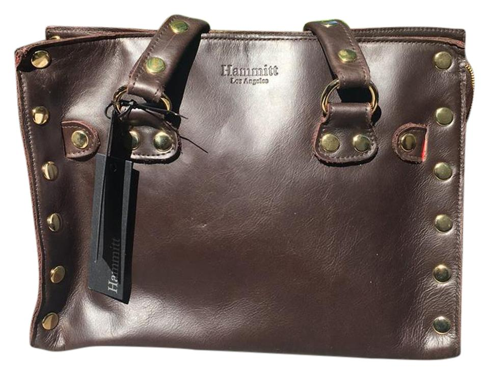 8899166a5cf3 Hammitt Brentwood Espresso with Gold Stud Details Leather Satchel ...