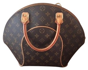Louis Vuitton Mm Domed Handbag Monogram Ellipse Satchel in Brown