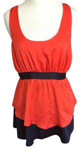 Lucca Couture Top Red & Navy