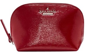 Kate Spade Cedar Street Red Small Annabella Leather Cosmetic Bag