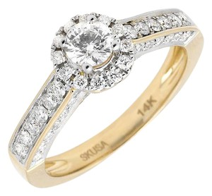Other Halo Solitaire Genuine Diamond Engagement Wedding Ring 1.0ct