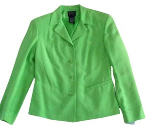 City Silk Jacket Suit Green Blazer