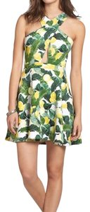 Abercrombie & Fitch short dress white with yellow lemons and green on Tradesy