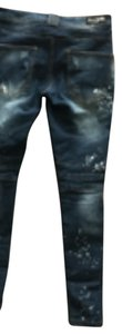 Balmain Straight Leg Jeans-Distressed