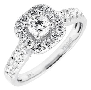 Other Cushion Halo Solitaire Genuine Diamond Engagement Ring 1.0ct