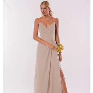 Jasmine Champagne Style P186003 Traditional Bridesmaid/Mob Dress Size 4 (S)