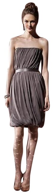 Dessy Mocha 8108 Mid-length Night Out Dress Size 10 (M) Dessy Mocha 8108 Mid-length Night Out Dress Size 10 (M) Image 1
