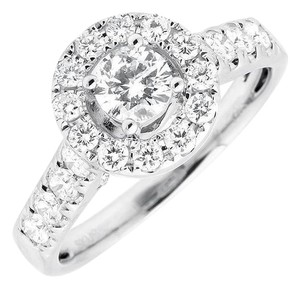 Jewelry Unlimited Halo .40ct Solitaire Genuine Diamond Engagement Wedding Ring 1ctw