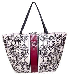 Brighton Tote in Pink, Black and Red