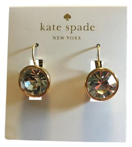 Kate Spade Clear gold round dropped