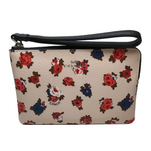 Coach Wristlet in White/Floral
