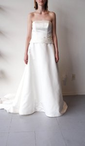2 Be Bride Strapless Satin Wedding Gown W/ Drop Waist Wedding Dress