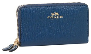 Coach double zip credit card coin wallet