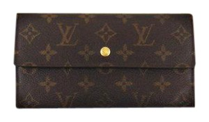 Louis Vuitton International Monogram Canvas Leather Long Clutch Wallet w/ Box