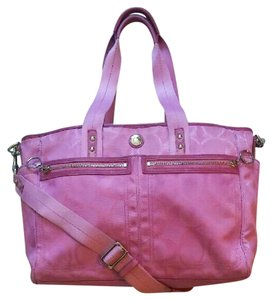 Coach Multifunction Tote Pink Diaper Bag