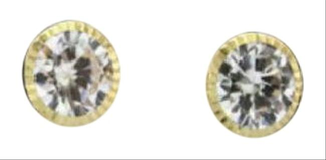 Yellow Gold 14 Kt (Cz) Woman and (Children) Earrings Yellow Gold 14 Kt (Cz) Woman and (Children) Earrings Image 1