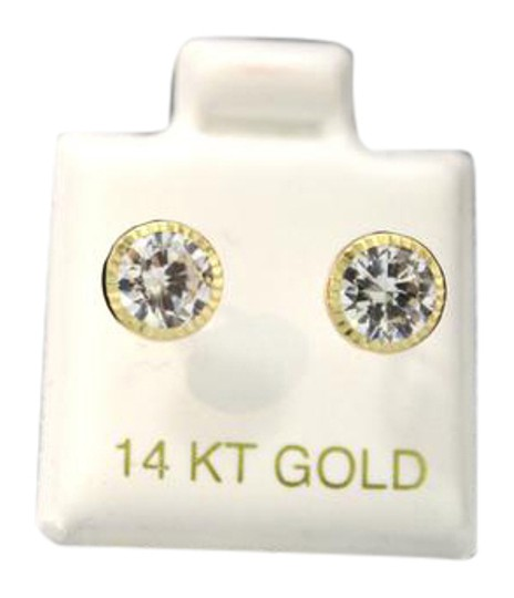 Other 14 KT Yellow GOLD (CZ) Woman and (children) earring Image 2