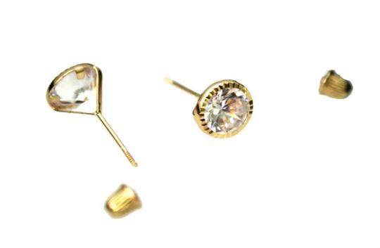 Other 14 KT Yellow GOLD (CZ) Woman and (children) earring Image 3