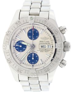 Breitling Breitling SuperOcean Chronograph Day-Date 42MM Silver Dial A13340 B&P