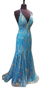 Night Moves Prom Collection Formal Mermaid Beaded Strappy Dress