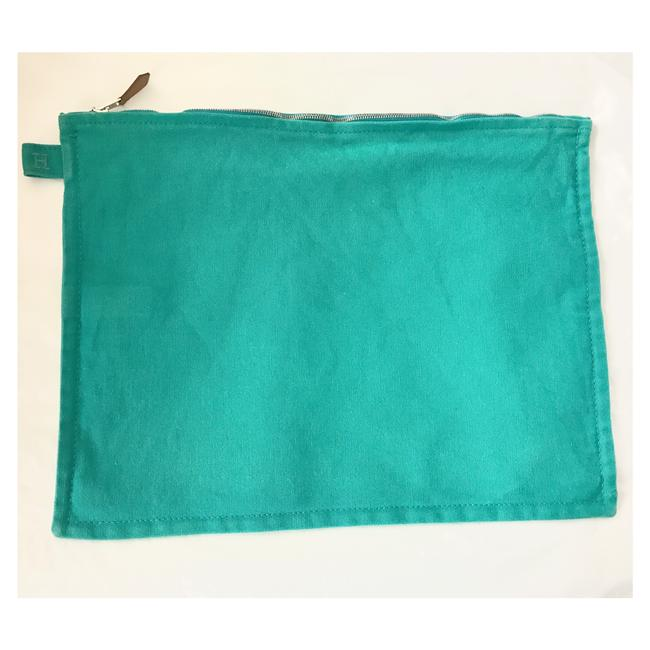 Item - Turquoise Canvas Case Cosmetic Bag