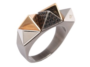 Louis Vuitton Black Spiky Zigzag Ring