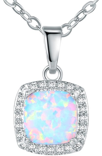 Preload https://img-static.tradesy.com/item/21219869/silverwhite-18k-gold-plated-and-fire-opal-pendant-necklace-0-1-540-540.jpg