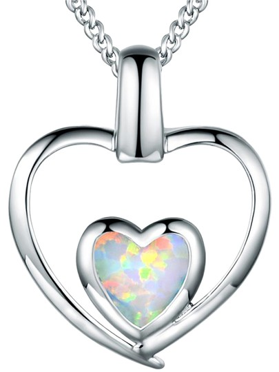 Preload https://img-static.tradesy.com/item/21219887/silver-white-18k-gold-plated-fire-opal-double-heart-pendant-necklace-0-1-540-540.jpg