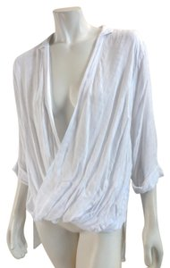 Silence + Noise Sheer 3/4 Open Front 5100 99 Top white