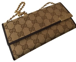 Gucci Wallet Wallet On Chain Monogram Chanel brown Clutch