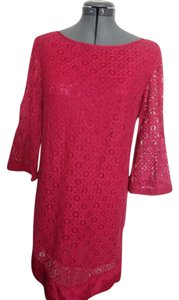 Laundry by Shelli Segal short dress Dark red Lace Keyhole Red on Tradesy