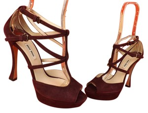 Miu Miu Burgundy Pumps