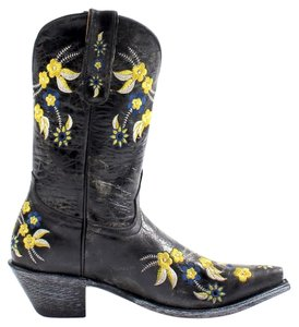 Old Gringo Og Yippee Ki Yay Floral Embroidered Brand New Nwt Cowgirl Cowboy Black Boots