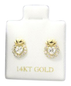 Other 14 KT Authentic Yellow Gold (CZ) earring for woman and children