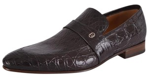 Gucci Men's Loafers Alligator Brown Flats