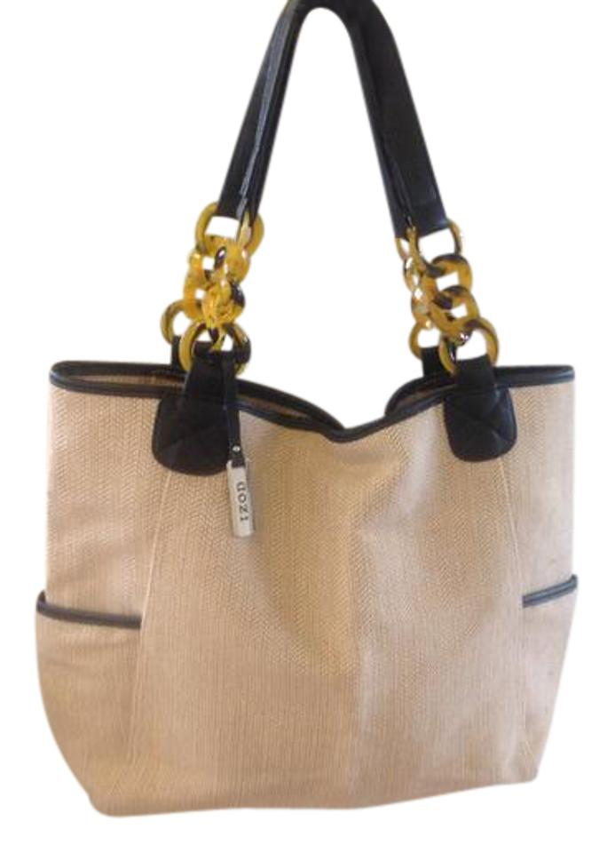 0b6595f8b597 Izod Perfect For This Summer Beige   Black Hemp Cotton Shoulder Bag ...