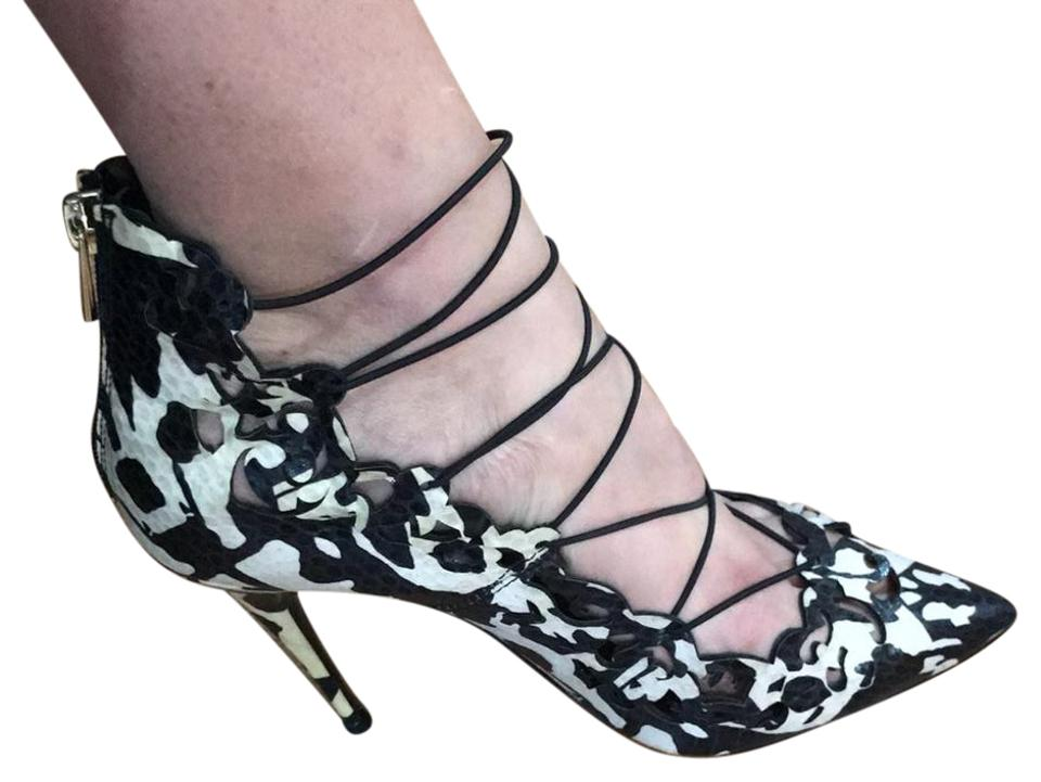 d289a78e01 Black and White Pointy Heels Pumps Size US 8.5 Regular (M, B) - Tradesy