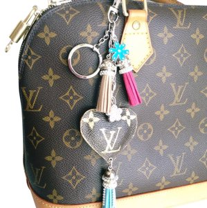 Upcycle Louis Vuitton Keychains For Handbag Purse Satchel in Brown